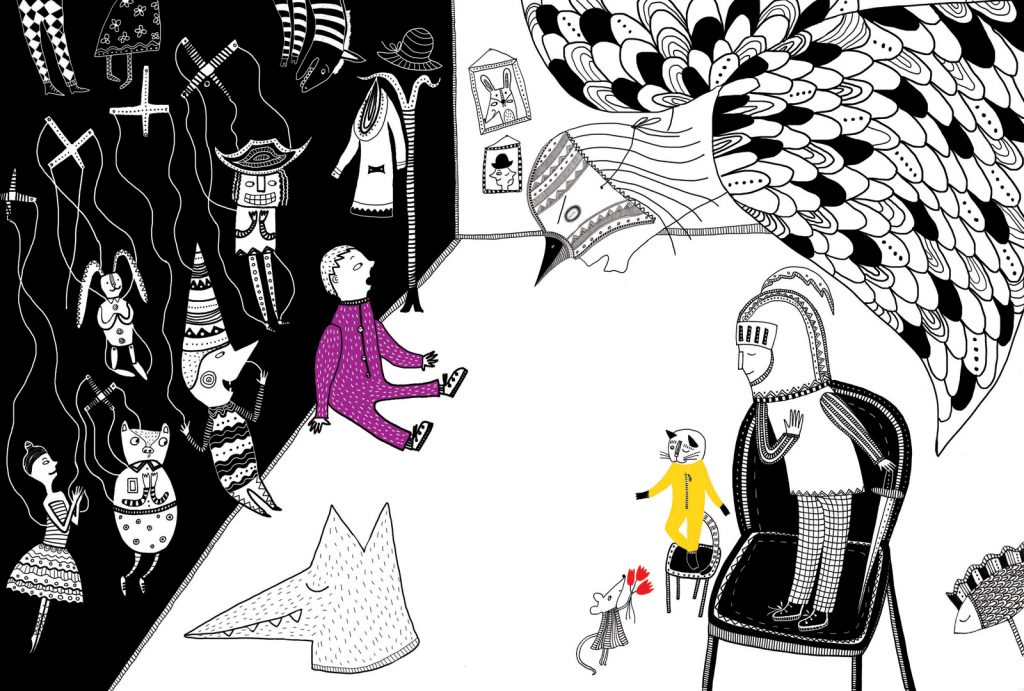 Behind the Scenes (Entre bastidores), shortlisted in Sharjah Illustration Competition, 2017